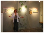 Ann Holsberry Grimm at an exhibition of her paintings in the south of France 2010